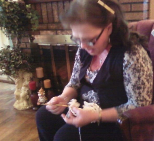 Only Known Photo Of Me Crocheting!