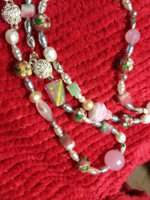 All in Pink! Rose Quartz, Pink Opal, Pearls, Moontones and more!