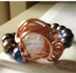 Moonstone and quartz