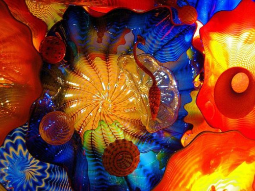 Dale Chihuly's breathtaking Persian Ceiling installation at the de Young Museum in San Francisco's Golden Gate Park.