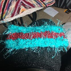 Headband reverses to look like this!