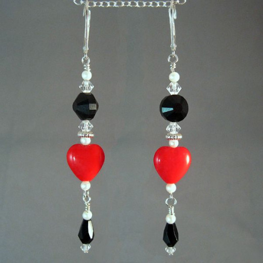 "Romantic ""Queen of Hearts"" Earrings by Margaret Schindel"