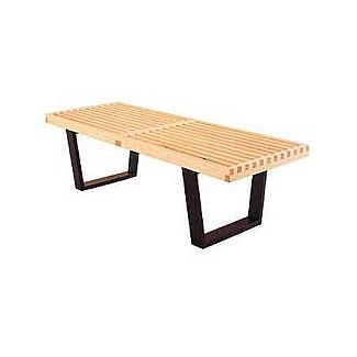 the 4 ft. and 5 ft. Nelson Benches both have just one cross strut on the top [source DWR]