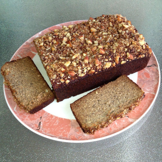 Healthy, gluten free, Paleo banana almond bread recipe by Margaret Schindel