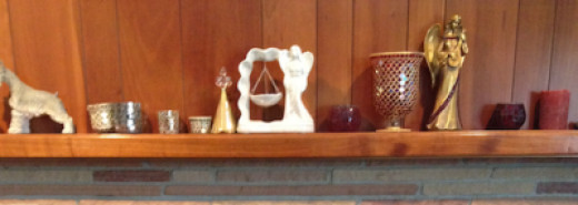 My Mantel As It Sits Right Now, Before Decorating For Christmas
