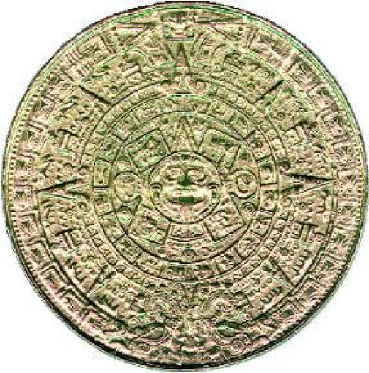 Fig.2 An ancient Aztec cyclic calendar.