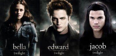 Bella Swan, Edward Cullen, and Jacob Black