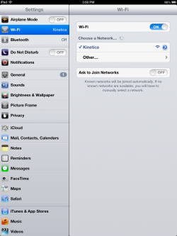 wifi settings ipad