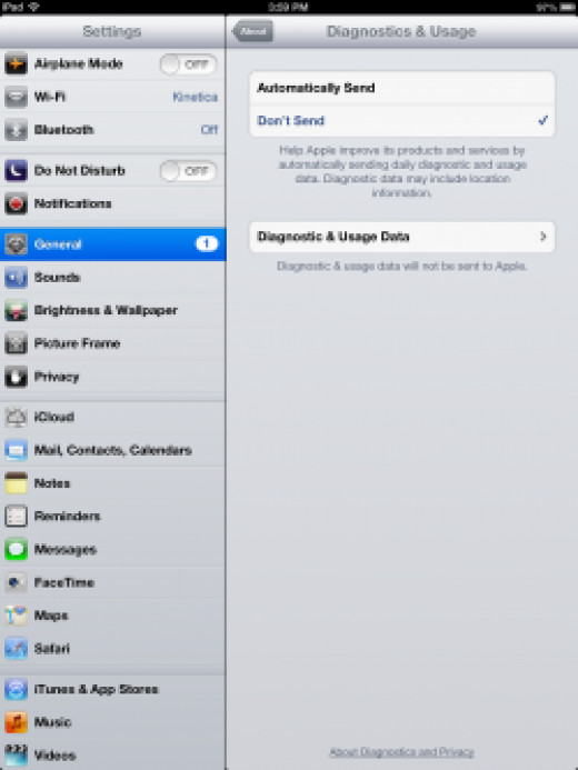 diagnostic reporting for ipad