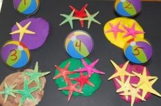 Beach-themed Play Dough Math
