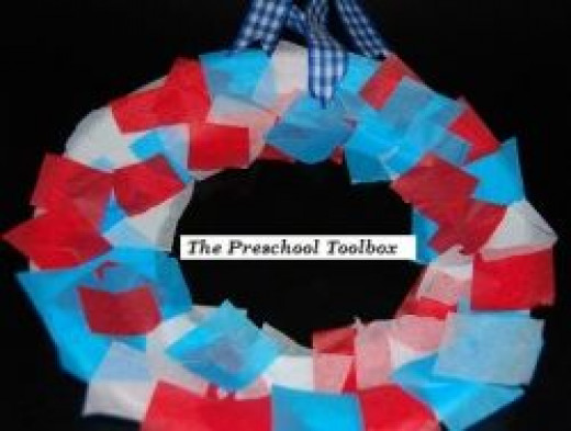Memorial Day Wreath Craft for Kids