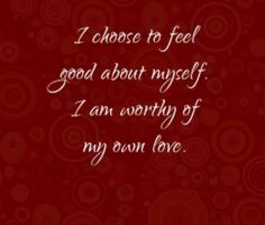 an affirmation by Louise Hay