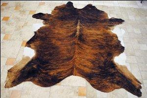 New Hilason Exotic Medium Hair-On Leather Pure Brazilian Cowhide Skin Rug