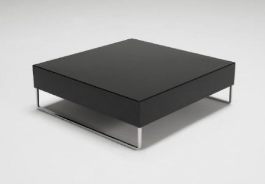 Large Square Black Coffee Table