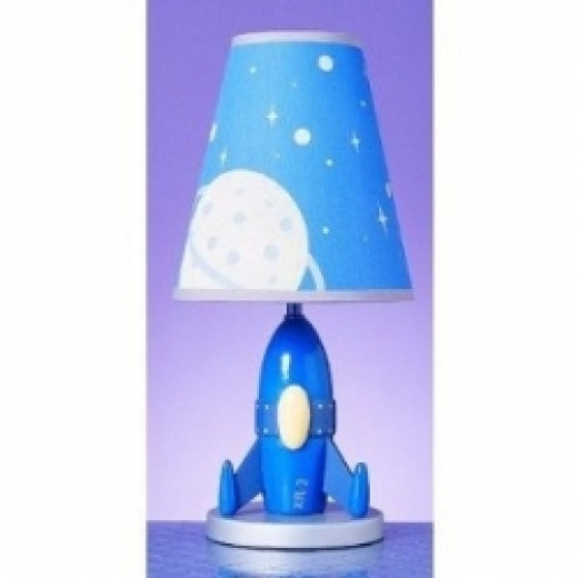 Image credit: Amazon.com. This spaceship lamp is discussed below.