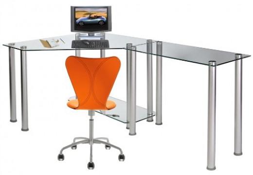 L-Shape Modern Glass Computer Desk