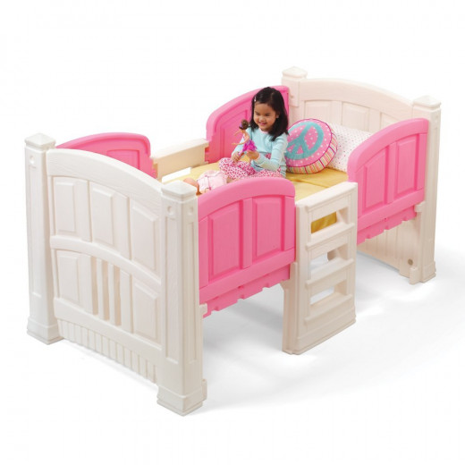 Step2 Pink & White Low Loft Bed for Little Girls