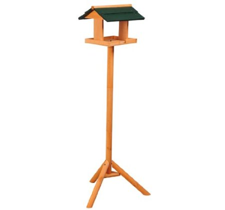 Wooden Free Standing Bird Feeder with Pole