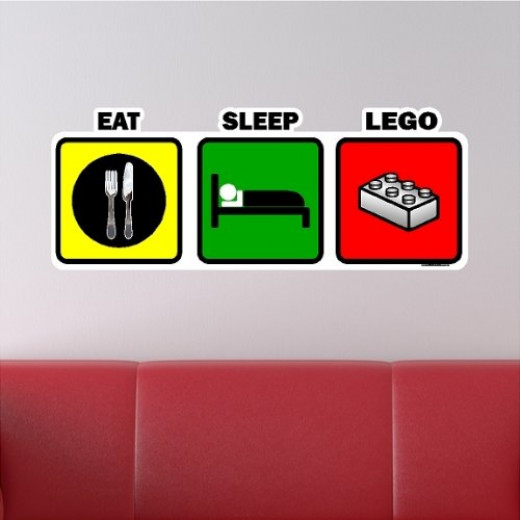 LEGO Bedroom Theme Wall Decals for Kids & Toddlers