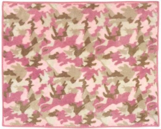 Pink Camo/Camouflage Accent Rug
