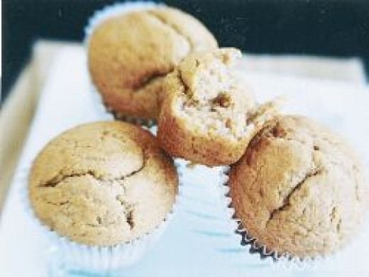 Banana Coffee Nut Muffins