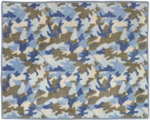 Blue Camo Accent Rug Army Camouflage