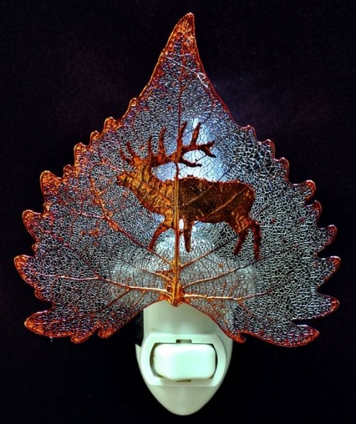 Iridescent Copper with Elk Image