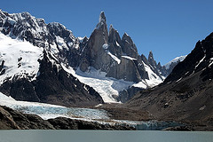 Cerro Torre and Torre Glacier in Patagonia. Photo courtesy of Flickr - Planet Adventure.