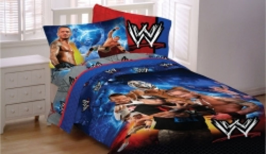 Image credit: Amazon.com. The WWE wrestling bedding set shown here is available below. (LINK is below).