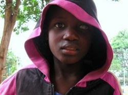 Boy with glaucoma, Rwanda 2006.
