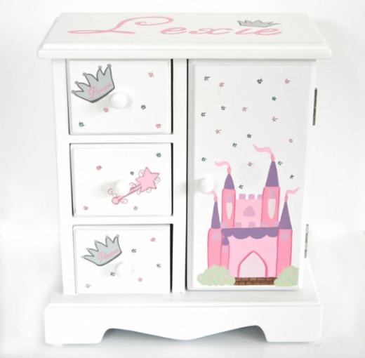 Princess Castle Musical Jewelry Box - NanyCrafts.com