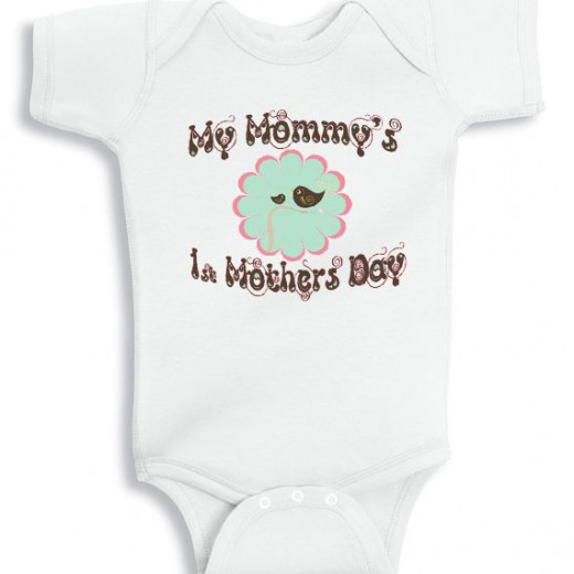 Personalized baby onesie - My Mothers First Mothers Day Lil bird