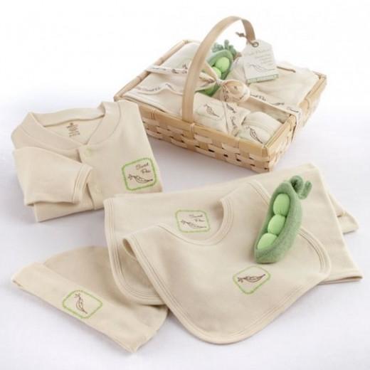 Fresh Produce Sweet Pea Five-Piece Organic Layette Set