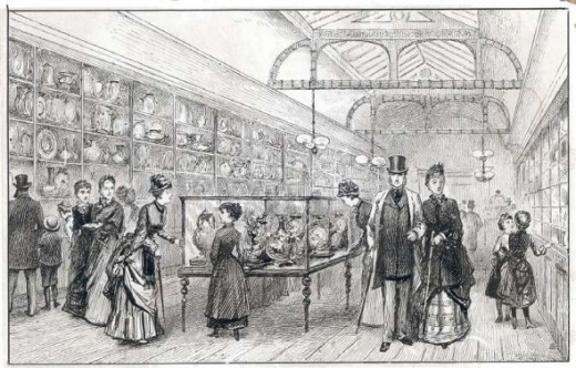 Royal Worcester factory museum, before 1900