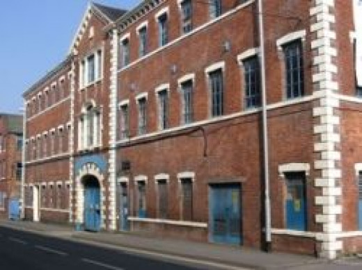 Aynsley Works (south-west side) in Longton, UK