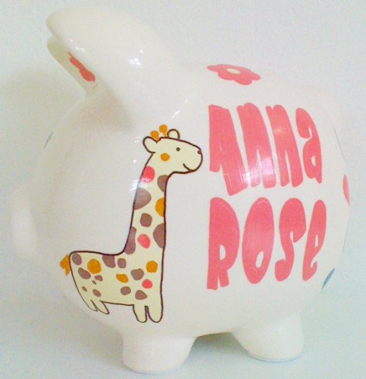 Little Jungle 1 - Personalized piggy bank for kids from NanyCrafts.com