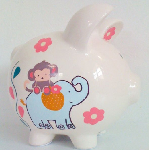 Little Jungle 3 - Personalized piggy bank for kids from NanyCrafts.com
