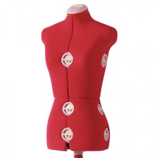 SINGER DF150 Adjustable Dress Form, Red, Medium