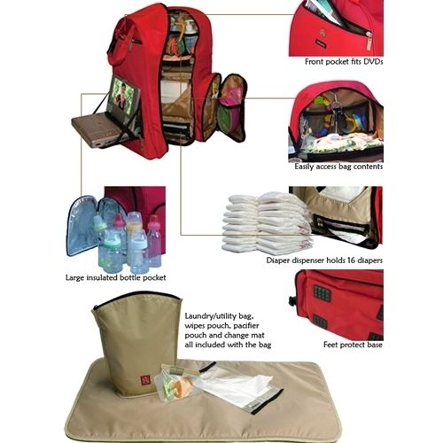 Okkatots Travel Baby Depot Backpack Bag - Features