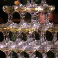 Champagne Fountains Make A Wedding Party Bubble!