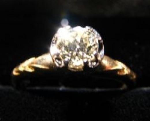 Victorian 1/2 carat diamond ring. Bought $400. Sold $800.