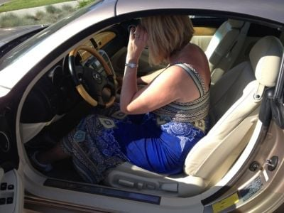 Me ... Still Scoping Out the Cockpit of the 2004 Lexus Convertible (Limited Edition)