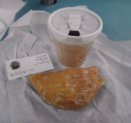 Naegelin Bakery's House Coffee (New Braunsfels, TX) and an Apple Turnover!