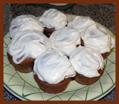 Gingerbread cupcakes - the finished product!