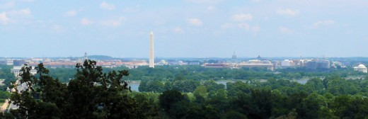 Panoramic view of Washington DC