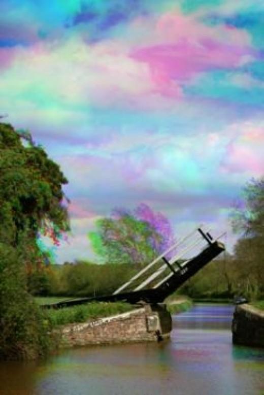 Canal Lift Bridge Tri-Colour