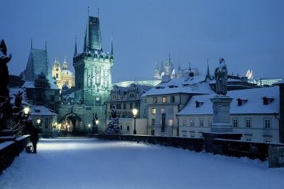 Prague can be even more romantic in winter...