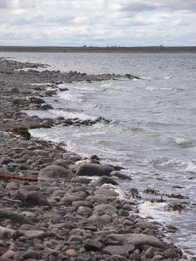 Arviat, Nunavut shoreline