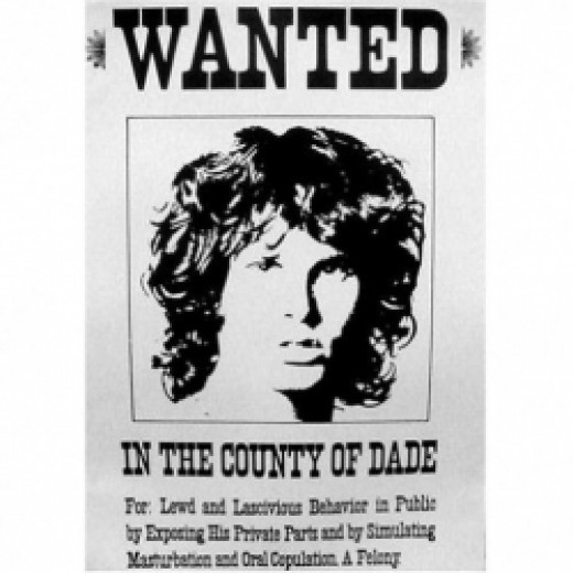 wanted jim morrison poster