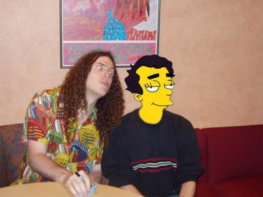 """Weird Al"" Yankovic & me. I look like a dufus. I should have pulled a face too!"